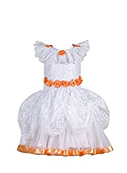 Teneleven Baby Girls' Frock (TE1011201018_White_12-18 Months)