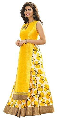 White-World-Womens-Banglori-silk-Lehenga-Choli-yellow-indoyellow-Free-Size