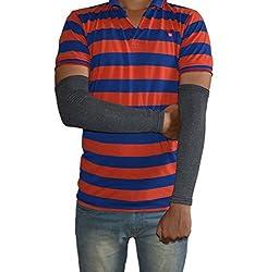 Infinxt Sun & Pollution Protaction Cotton Arm Sleeve For Men & Women (Dark Gray)