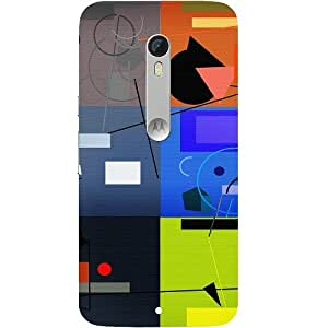 Casotec Abstract Figure Design Hard Back Case Cover for Motorola Moto X Style