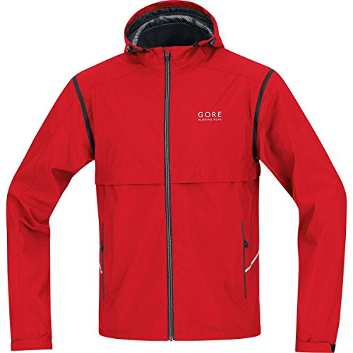 GORE RUNNING WEAR Essential Windstopper Active Shell Zip-Off - Chaqueta de running para hombre, color rojo, ta 80.80€