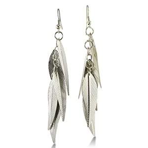Lightweight Multi-Leaf Dangle Earrings