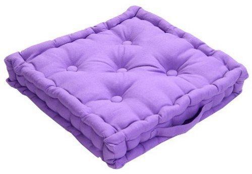 Homescapes coussin de chaise de couleur violet fait en 100 coton de 50x50 c - Coussin de chaise exterieur 50x50 ...