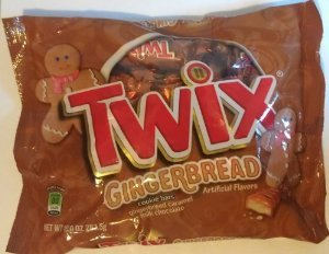 Limited Edition Gingerbread Twix Fun Size Bars, 10 Oz Bag (Pack Of 2)