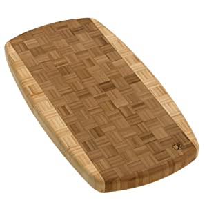 Totally Bamboo Zambia Parquet End Grain Cutting Board