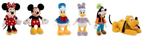 Disney Fabulous Five + 1 Mickey Mouse, Minnie Mouse, Donald & Daisy Duck, Goofy & Pluto - 18 Inches High, Plush Set of 6- by Disney