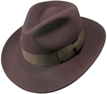 Jaxon Crushable Ford Fedora (X-Large, Brown)