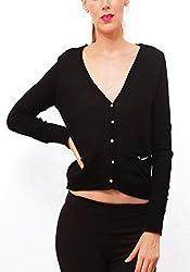 Pepe Womens Wool Pullover (NIEVE LS_Black_M)