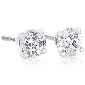 Click to buy 1 Carat Brilliant Round Diamond Stud Earrings from Amazon!