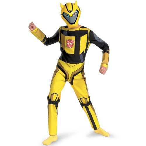 Standard Animated Kids Bumblebee Costume Child Transformers Costumes