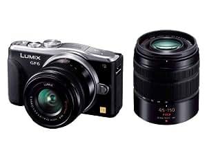Panasonic ルミックス ミラーレス一眼カメラ ルミックス GF6 ダブルズームレンズキット 標準ズームレンズ/望遠ズームレンズ付属 ブラック DMC-GF6W-K