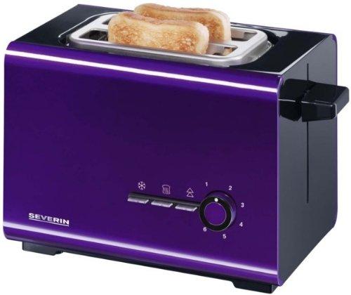 severin 2508 grille pain 900w thermostat noir violet. Black Bedroom Furniture Sets. Home Design Ideas