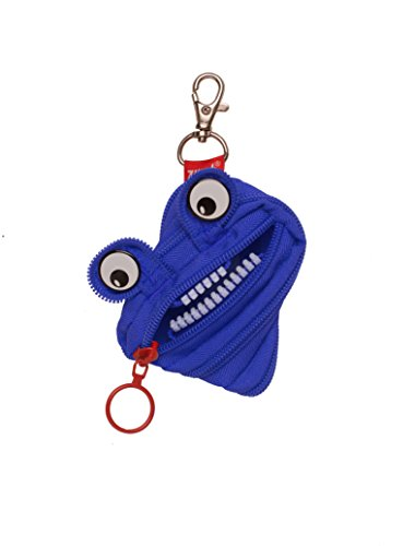 "ZIPIT Monster Mini Pouch Coin Purse, Royal Blue, 3.74""x0.6""x3.14"" / 9.5x1.5x8cm (ZPTM-AL-2)"