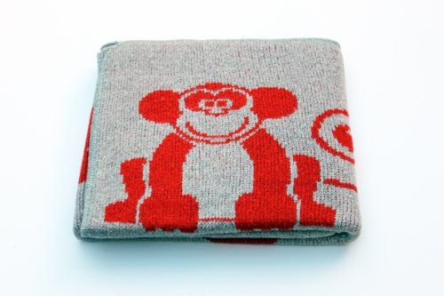 Eco Friendly Cotton Baby Blanket - Animals Spice - Made in USA