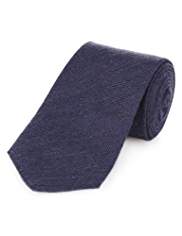 Collezione Made in Italy Wool Blend Herringbone Tie with Silk