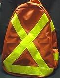 New Reflective Orange Backpack - Safety Vest Style