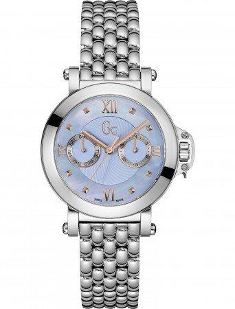 Guess Collection X40003L7S- Reloj de mujer de acero, correa de acero, cristal de zafiro, 10atm, azul mop
