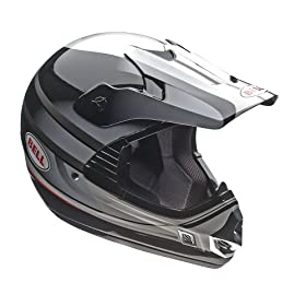 Bell Powersports MX Riot Motorcycle Helmet (X-Large, Black/Silver)