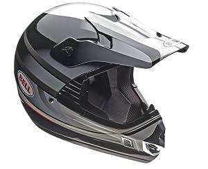 Bell MX Riot and Off-Road Helmet (Black/Silver, Medium)