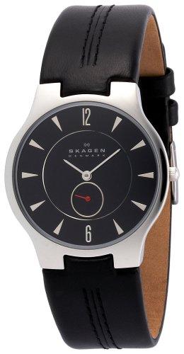 SKAGEN (スカーゲン) 腕時計 basic leather mens 433LSLB ケース幅: 34mm Ultra Slim メンズ [正規輸入品]