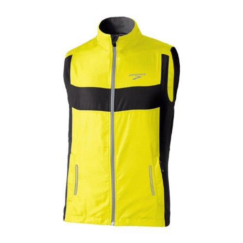 Brooks Brooks Men's Nightlife Essential Run II Vest, Nightlife/Black, Large