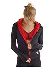 Margarita Black Jacket Lined with Red Mesh