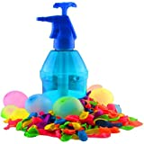 K7plus® Wasserbomben Pumpe mit 200 Wasserballons - Einfüllhilfe für Wasserbomben - 1,5 Liter Inhalt