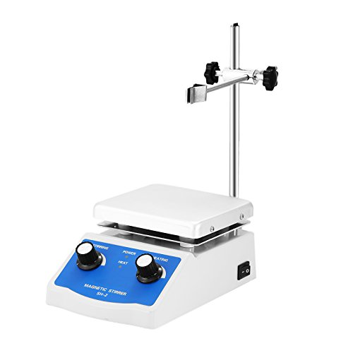 BestEquip Magnetic Stirrer 4.7 x 4.7 Inch Heating Plate Magnetic Stirrer Hot Plate 1000ml Stirring Capacity Magnetic Stirrer Kit 180W Heating Power (Magnetic Hot Plate Stirrer compare prices)