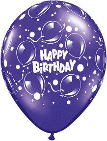 "11"" Birthday Sparkling Balloon (10 ct) - 1"
