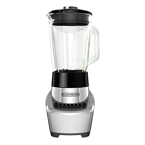 BLACK+DECKER BL1111SG FusionBlade Blender with 6-Cup Glass Jar, 12-Speed Settings, Silver Blender (6 Glass Jars compare prices)