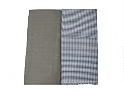 Bdow Men's Poly viscous trouser and shirt fabric (Unstitched material)