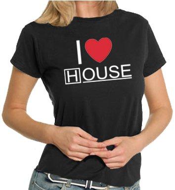 Touchlines T-shirt da donna I Love House, black, XXL, TL172