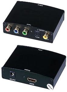 C&E Component & S/PDIF Digital Coax Audio to HDMI Converter