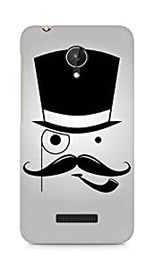 Amez designer printed 3d premium high quality back case cover for Micromax Canvas Spark Q380 (Mustache Man)