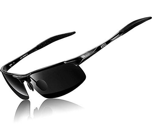 ATTCL® 2016 Gafas de Sol de metal polarizadas 8177 negro