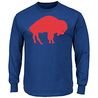 "Buffalo Bills Majestic NFL ""Back in Time"" Men's Throwback Long Sleeve T-Shirt"