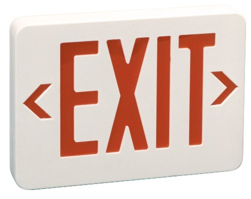 Preferred Industries E1021R LED Red Exit Sign with Battery Back-up