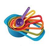 IBEET Measuring Spoons and Cups 6 Piece Stackable Backing Set Kit - Colorful Cute Kitchenaid