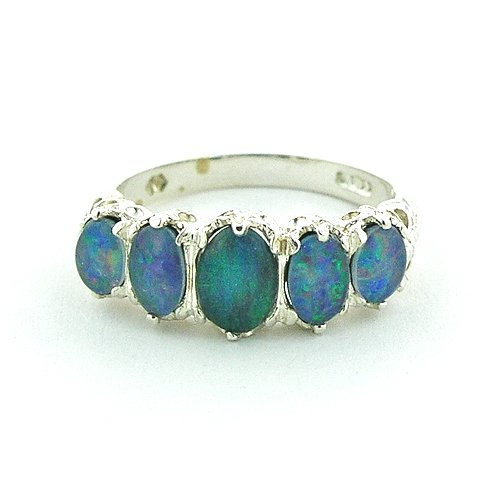 Sterling Silver Ladies 3.00ct Opal Ring - Size M - Finger Sizes L to Z Available