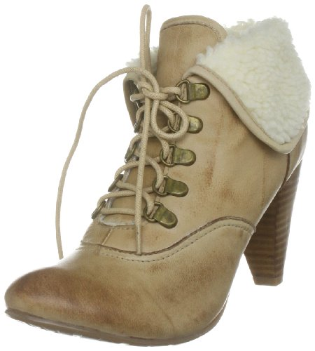 Moda In Pelle Women's Bashful Beige Synthetic Ankle Boot Bas02 6 UK