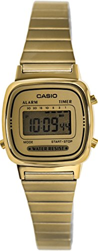 Casio Women's LA670WGA-9 Gold Stainless-Steel Quartz Watch with Digital Dial 0
