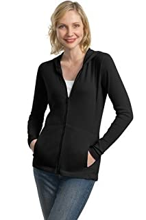 Port Authority Ladies Modern Stretch Cotton Full-Zip Jacket, black, XX-Large