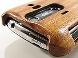 AQUOS Phone 006SHケースカバー(木製:高級木マホガニー)永久修理保証