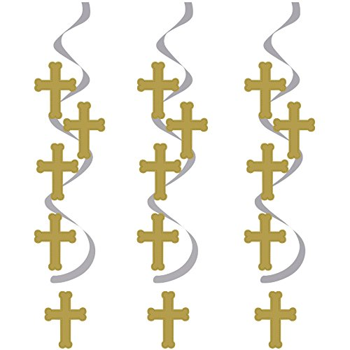 Gold and Silver Cross Dizzy Danglers (5 per package)