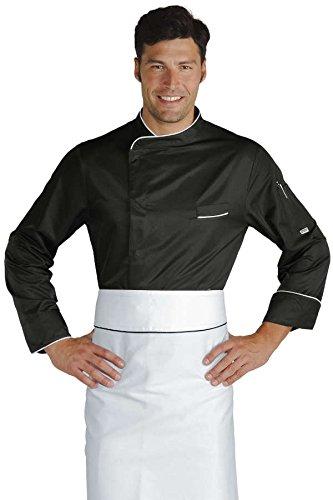 Isacco Giacca cuoco Bilbao - Isacco Nero+Bianco, Nero+Bianco, S, 100% Poliestere, Manica Lunga