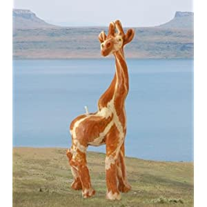 Imported African Handmade Giraffe Safari Animal Candle, medium