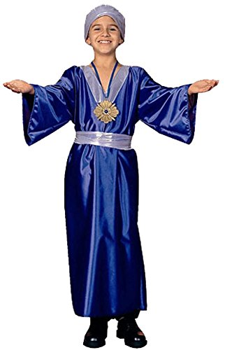 Kid's Blue Wiseman Biblical Costume (Size: Medium 8-10)