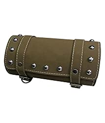 Spedy Bags And Luggage Box For Spedy Bike Leatherette Back Seat Saddle Bag Beige Royal Enfield Thunderbird Old 350