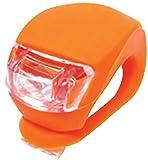 光って安全、光り方 3パターン、LEDシリコンライト 【2個セット】 バック に 傘 に 自転車 に 【交通安全用品】 (オレンジ)