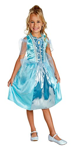 Girls Cinderella Sparkle Kids Child Fancy Dress Party Halloween Costume